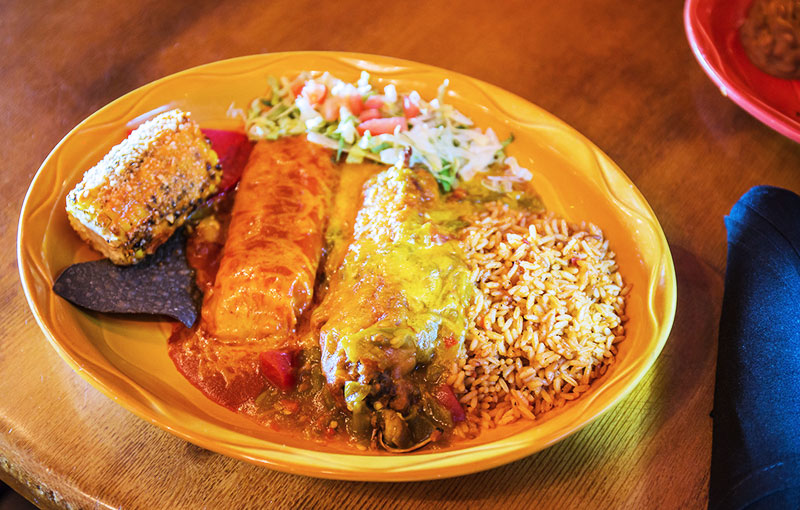 Smothered chile rellenos