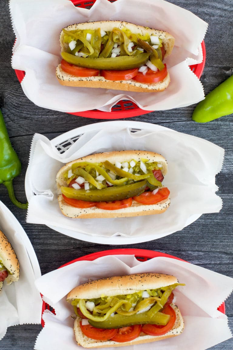 green chile hot dogs chicago style
